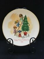 Fran Mar Moppets HAPPY MERRY CHRISTMAS TREE 1974 Gorham China Plate NIB