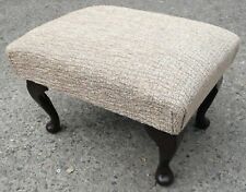 QUEEN ANNE STYLE FOOTSTOOLS/POUFFES ANY COLOUR ANY FABRIC