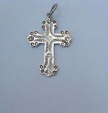 Sterling Silver Cross Pendant Medallion