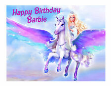Barbie and Pegasus edible cake image party cake decoration topper
