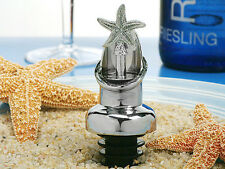 100 Silver Chrome Beach Starfish Wine Pourer Bottle Stopper Set Wedding Favor