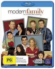 MODERN FAMILY-SEASON ONE BLU-RAY=3 DISC SET=REGION B AUSTRALIA=NEW AND SEALED
