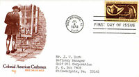 UNITED STATES 4 JULY 1972 COLONIAL AMERICAN CRAFTSMEN FIRST DAY COVER SHS