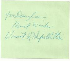 NYC Mayor Vincent Impellitteri (d.87) Signed Auto Vintage Album Page  A17