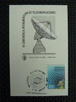 ARGENTINA MK RADIOTELESCOPE SPACE MAXIMUMKARTE CARTE MAXIMUM CARD MC CM c1875