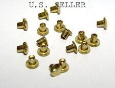 "Brass Hollow Rivets 3/32"" Wide x 1/8"" Long Package Of 100"