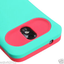 Samsung Galaxy S2 4G Sprint Boost D710 R760 Hybrid Case Cover Green Hot Pink