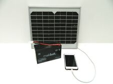 Solar Panel Charger for Viper Bait Boat Battery with USB for Phone