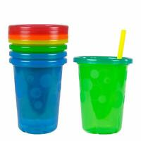 The First Years Take and Toss Spill Proof Straw Cup 4 Pieces baby feeding cups