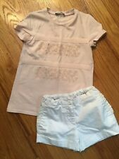 Moncler Girls T-Shirt and Shorts Size 6 EUC