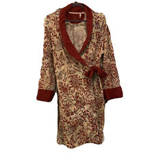 Soma Red Patterned Shawl Collar Short Robe Lounge Sz Small / Medium