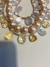 NEW Jewellery Making Kit, Citrine, Quartz, F/W Pearls, Silver Plated Findings