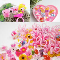 50PCS Pink Plastic Adjustable Kids Cabochon Ring Base Findings GLUE ON Pads
