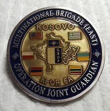 AUTHENTIC KOSOVO KFOR 6A MNB-E NATO JOINT GUARDIAN TF FALCON RARE CHALLENGE COIN