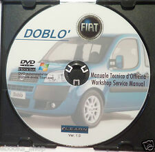 DVD MANUALE OFFICINA FIAT DOBLò 1.2-1.4 8V-1.6 16V-1.3 JTD 16V-1.9 8V-1.9DIS prm