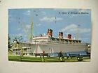 1951 Queen of Bermuda at Hamilton, Bermuda  Cruise Ship Postcard