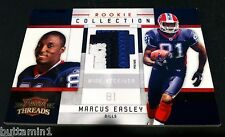 MARCUS EASLEY 2010 Panini Threads PATCH 3 Color Prime JERSEY Rookie #d /50 RARE