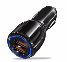 Caricatore caricabatterie universale auto accendisigari 2 USB Veloce 2.1A NERO