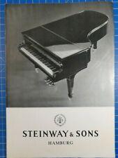 Steinway & Sons Hamburg Prospekt H1777
