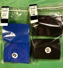 Nwt Gk Elite Sportswear Style #Gk49 Neoprene Wristbands 3.5� Black & Blue Size M