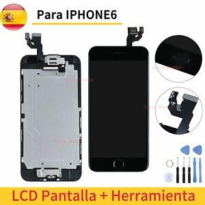 Para iPhone 6 Pantalla Completa LCD Display Negro Retina Táctil Cámara + Marco
