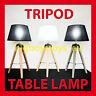 TIMBER TRIPOD TABLE LAMP Vintage Modern Retro Wooden INDUSTRIAL