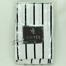 Ralph Lauren MONTECITO Shirt Stripe Cotton 2 KING Pillowcases New NIP Pair Black