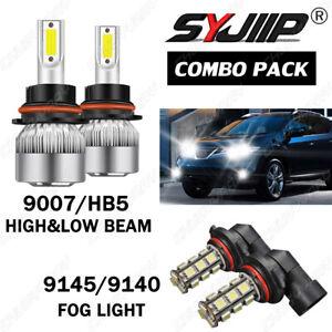 For Nissan Murano 2003-2008 Combo LED Headlight High/Low Beam Foglight 4x Bulbs