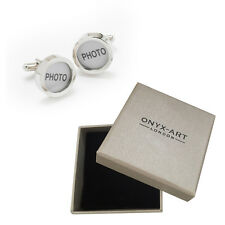Mens Executive Cufflinks Round Photo Frame By Onyx Art