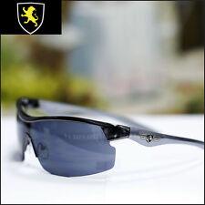 New KHAN Sports Biker Sunglasses Driving Trendy Fashion Eyewear Black Gun Metal