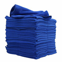 20 Large Blue Microfibre Cleaning Auto Car Detailing Soft Cloths Wash Towel /MY