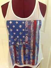 Women's Size XXL Tank top American Flag Made In The USA