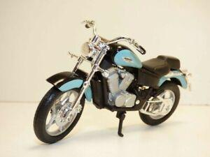 MOTO HONDA SHADOW VT1100C bleu 1/18