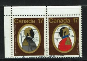 Se-Tenant Colonels Used Canada Stamps from 1979
