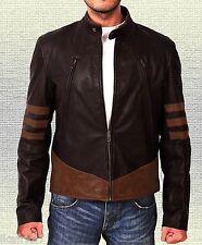 XMen Origin Wolverine Hugh Jackman's Handmade Brown Original Leather Jacket