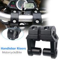 2x 7/8'' 22mm Universal Motorcycle HandleBar Handle Fat Bar Mount Clamps Riser