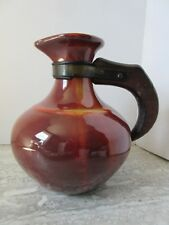 d7ec2c8b85d Old Vintage Franciscan Pottery Gladding McBean Dark Red Glaze Ewer Pitcher
