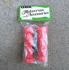 OGK Foam BMX Grips Motorcross Accessories NOS Vintage - Red