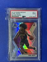 2019 Panini Mosaic #211 Coby White Mosaic Silver Prizm PSA 9 Mint Rookie Card RC