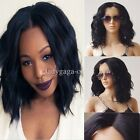 Short Loose Wavy Bob Lace Front Hair Wigs Women Brazilian Full Wig Natural Black