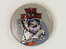 Vintage 1980's Van Halen 1984 prismatic foil concert pin back button