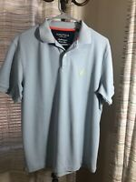 Nautica Mens Light Blue Classic Fit  Short Sleeve Polo Shirt Size Medium
