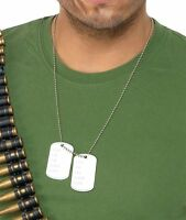 Smiffy's Dogtags On Ball Chain Army Soldier Jewellery