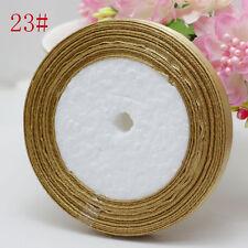 "Free Shipping wedding festival 25 Yards 3/8"" 10mm Craft Bows Satin Ribbon Sand"