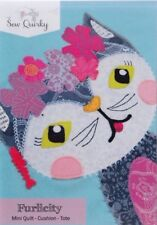 PATTERN - Furlicity - modern funky cat applique PATTERN - Sew Quirky