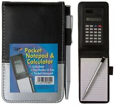 A7 Pocket Leather Effect Notebook With Pen & Calculator Police Style - 301304
