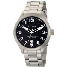 Nautica-Men-N12517G-BFD-101-Date-Black-Dial-Watch-NEW.