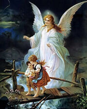 Guardian Angel Kids Full Drill Diamond Painting by Number Kits, 5D Diy Diamond