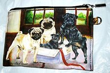 PUG   Zippered Pouch by Maystead / full color design both sides