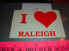 Raleigh NC Heart Love We I Funny Comic Tourist vacation Generic free shipping